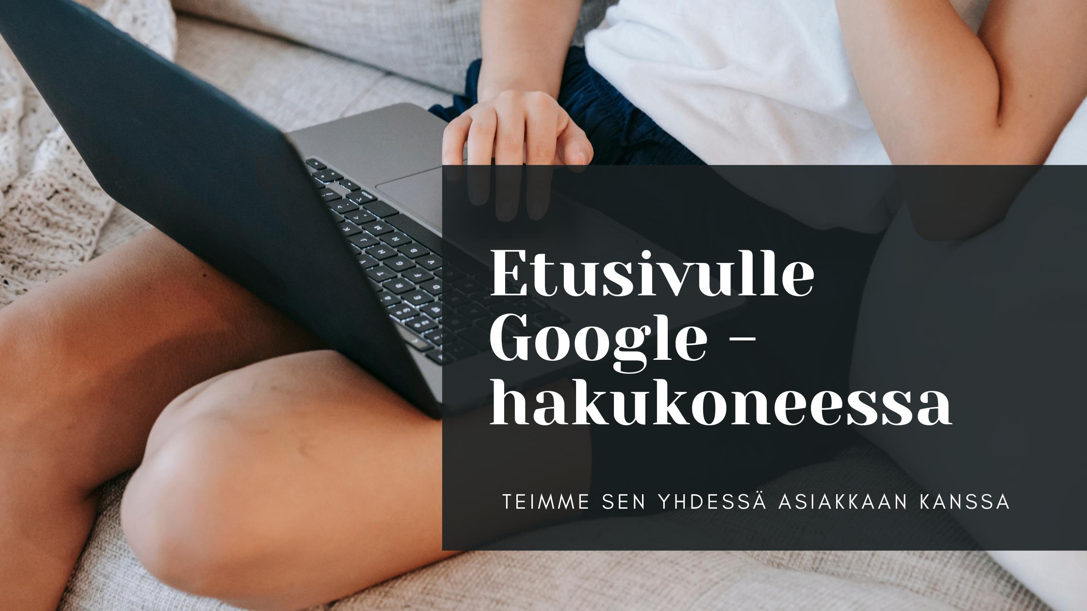 Digimarkkinointi etusivu Google